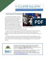 Health Cluster Bulletin 12--Cholera in Haiti