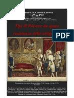 Domenico de Corradi d'Austria. Gunpowder impact and resistance of guns. Modena 1708