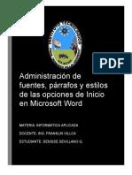 ADMINISTRACIÓN DE FUENTES
