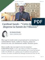 """Cardinal Sarah  """"Cette épidémie disperse la fumée de l'illusion""""  Valeurs actuelles.pdf"""