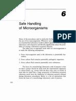 Appendix - Safe Handling of Microorganisms
