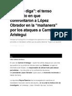 el tenso momento en que confrontaron a López Obrador