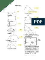 Área das principais figuras planas