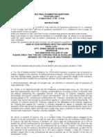 Baste 2010 Final Examination Questions - Tax 2