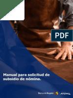 manual subsidio a clientes líneal