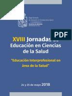 programa xviii jornadas de educacion en ciencias de la salud