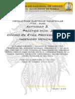 Act 3 Practica 2 CÓDIGO DE ÉTICA PROFESIONAL DEL INGENIERO MEXICANO  Ins Tamayo Galvan Victor Manuel