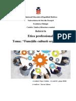 Functiile culturii organizationale