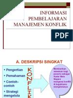 Informasi Pembelajaran Manajemen Konflik
