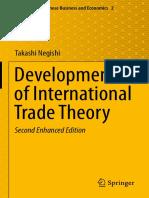 (Advances in Japanese Business and Economics 2) Takashi Negishi (auth.)-Developments of International Trade Theory-Springer Japan (2014)