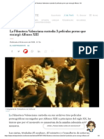 La Filmoteca Valenciana custodia 3 películas porno que encargó Alfonso XIII