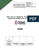 Plan para la Vigilancia, Prevención y Control de COVID-19 en el Trabajo - CISSAC RV01