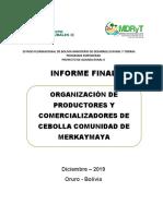 Informe Final Plan Alianza Comunidad de Merkaymaya