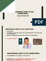 DESCRIBING HOW TO DO SOMETHING 1 3