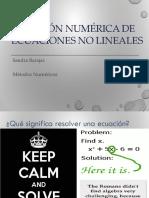 11. Solución numérica de ecuaciones no lineales-Métodos Abiertos