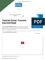 Función ENCONTRAR -