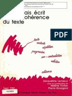 le français écrit par la coherence du texte_jacqueline lemieux--notre-dame-de-foy-PROSIP-1987.pdf