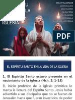 EL ESPÍRITU SANTO EN LA VIDA DE LA IGLESIA