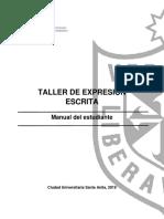 TALLER DE EXPRESION ESCRITA