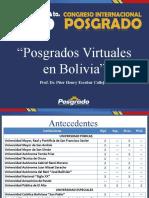 POnencia - Posgrados Virtuales en Bolivia