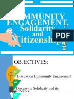 Community Enagement Citizenship & Solidarity