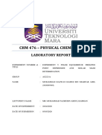 Laboratory Report Experiment 5 CHM476