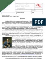 Atividade de História - Turma 801 - Prof Joao.rtf