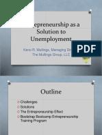 entrepreneurshipasasolutiontounemployment-151118091715-lva1-app6891