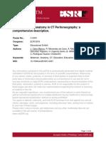 Peritoneal cavity anatomy in CT Peritoneography