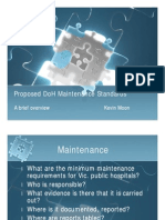 Kevin Moon Proposed DoH Maintenance Standards Ppt