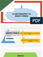 Entonacion y grupo fonico