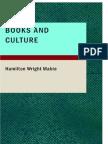 Hamilton Wright Mabie, Books and Culture