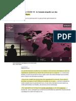 Blouin, L. (2020). Recherche sur la COVID-19 - Le Canada enquête sur des brèches informatiques