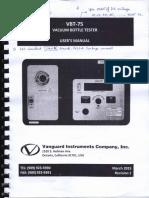 1. Operation Manual - Vaccum Bottle Tester - VBT 75