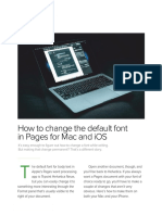 How to Change the Default Font in Pages for Mac and IOS