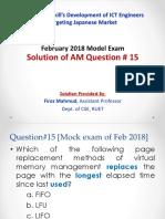 AM Q15 by Firoz Mahmud