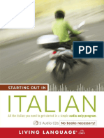 Starting Out in Italian by Living Language Excerpt