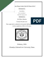 labor law rough draft