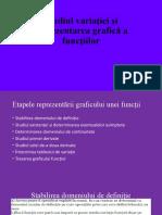 Studiul variației și reprezentarea grafică a funcțiilor