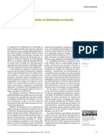 The challenge of specialization in physiotherapy in Spain