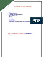 b.tech. Mini Project Report Format