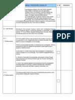 Crew Dismissal Checklist