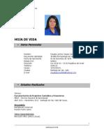 Hoja de Vida Claudia Vargas