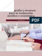 Recursos traducción jurídica y económica