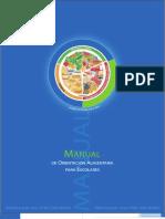 Manual Orientación Alimentaria para Escolares