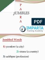 PARA-JUMBLES Strategies