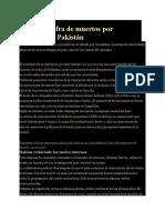 Sube a 97 cifra de muertos por avionazo en Pakistán
