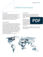 OPSWAT Antivirus, Windows OS and Backup Client Market Share and Usage Report December 2010