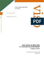 Revista Viso João Cabral e o conceito de profundidade