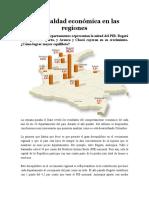 Desigualdad económica en las regiones